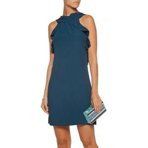 NWT Rachel Zoe Eden Cutout Ruffled Crepe Dress